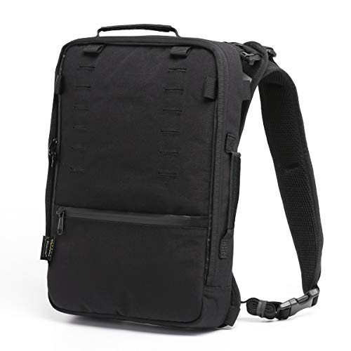 Ultra slim Ergonomic Laptop Backpack 13inch, water resistant, anti-thief, Tactical unisex daypack, multiple pocket