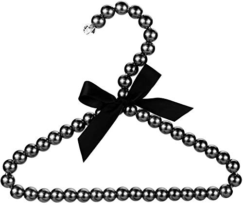 A&S Creavention Luxury Plastic Pearl Hanger for Baby Small Dog or Cat Clothing 5 Black
