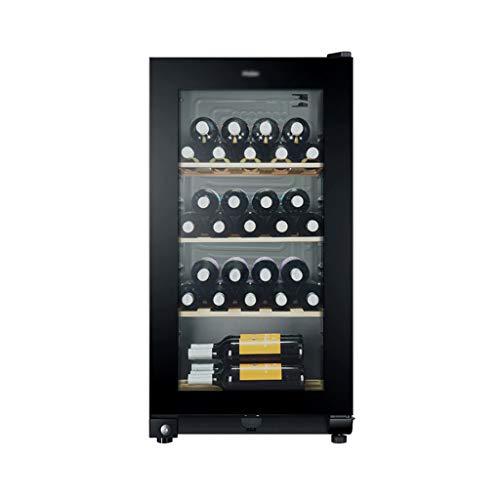 hanzeni Vinoteca 35 Botellas, Volumen De 117litros, 3estantes, Puerta De Vidrio Templado Anti-Ultravioleta/Antihielo,con Cerradura De...