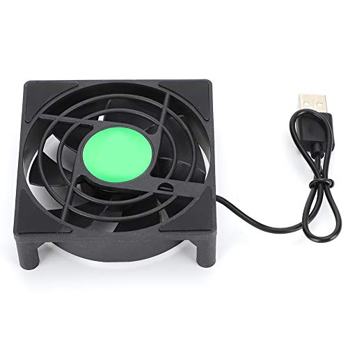 Ymiko 2pcs USB Fan Dual USB Cooling Machine Ultra‑Silent 2500RPM Suppliesfor Computer/PS4/TV Box