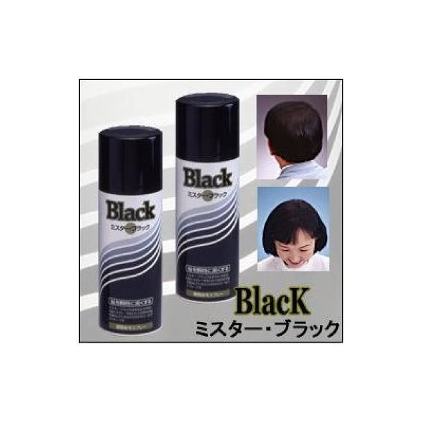 傷つけるアイデア安価な『ミスターブラック ? 男女兼用』 薄毛対策スプレー  瞬時に対応 ?染毛料? 日本製 (2本組)