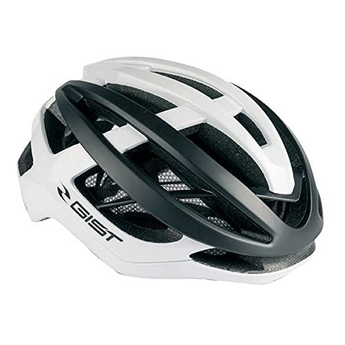 Casco de bicicleta para adulto Gist Route Sonar, blanco y negro, Full...