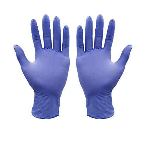 100 Pezzi di Guanti monouso in Nitrile Blu, Guanti Senza Lattice, Senza Polvere per Uso Domestico, Cibo, casa,Bellezza,Pulizia di Laboratorio Guanti,Pulizia Universale OXUO