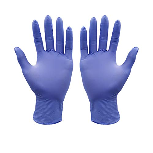 guanti lattice blu 100 Pezzi di Guanti monouso in Nitrile Blu