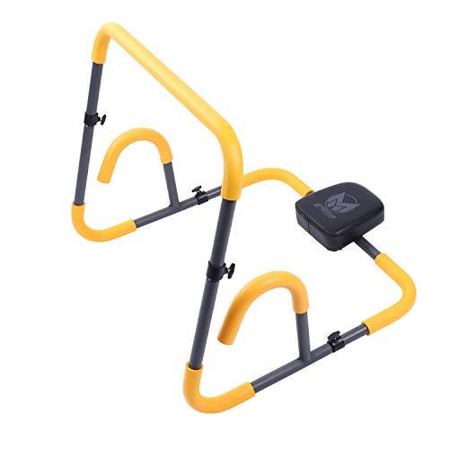 GYRONETICS Bauchtrainer mit Rutschfester Grifffläche - Ab Roller für Sit-Ups bis 100 kg belastbar
