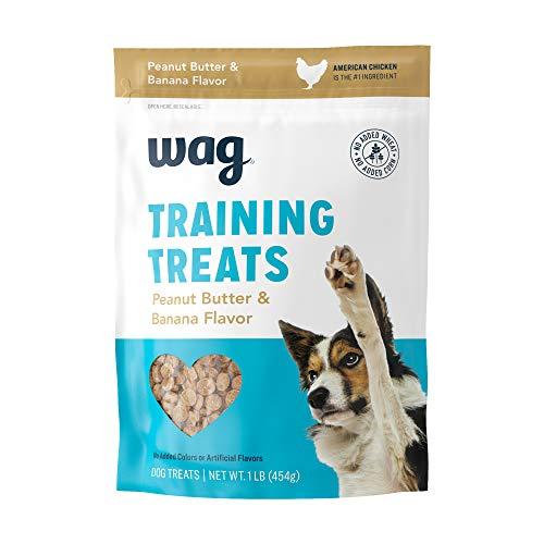 Amazon Brand – Wag Peanut Butter & Banana Flavor Training Treats, 1 lb. Bag (16 oz)