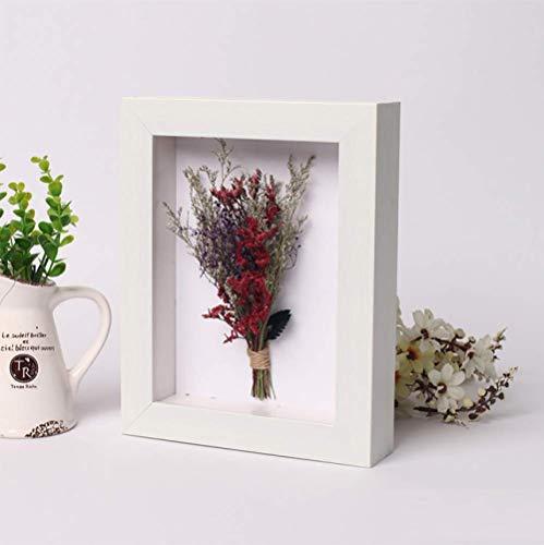 Espécimen de flores secas cuadrado Marco de fotos de 7 pulgadas caja de muestras tridimensionales vacío 3CM creativo yan marco de papel flor seca marco de fotos planta C