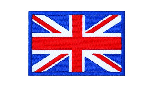 Graphic Dust United Kingdom UK Flag Embroidered Iron On Patch Applique British Union Jack England Great Britain