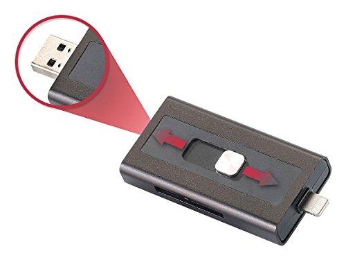 Callstel iPhone Speicher: microSD-Speichererweiterung für iPhone & iPad, MFi-zertif, bis 128 GB (Speichererweiterung iPhone 5s)