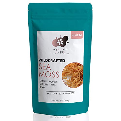 Sea Moss (4oz) All Natural Wildcrafted Ocean Raw Gold Irish Seamoss Organic Vegan Non-GMO Sundried Seaweed
