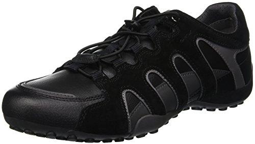 Geox Herren Uomo Snake A Sneaker, Grau (Black/Anthracite C9270), 47 EU