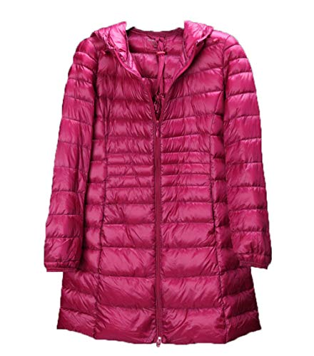 x8jdieu3 Daunenjacke mit Kapuze für Herbst und Winter in Übergröße, leicht und schmal. Schmale Lange Jacke S-7XL