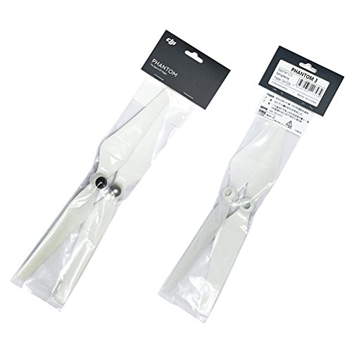 2 Pairs DJI Original 9450 Propellers Genuine Self-tightening Props Blades for DJI Phantom 3 Professional/Advanced,Phantom 2 series,Flame Wheel series platforms and E310/E305/E300 (2 pairs)