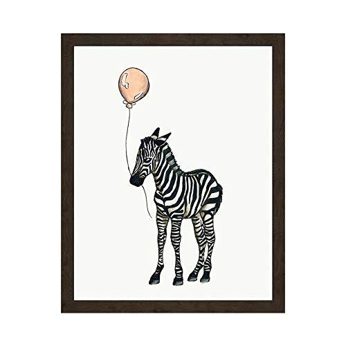 SDFSD Kreative Karikatur Afrikanisches Tier Bunte Ballon Zebra Elefant Giraffe Kinderzimmer Wohnkultur Wandkunst Poster Leinwand Malerei 60 * 90cm