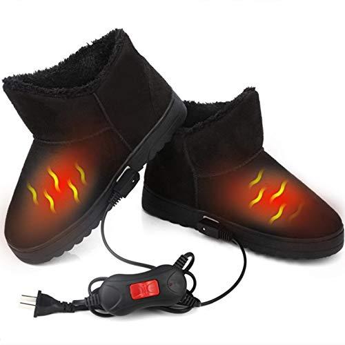 Calentador De Pies con Calefacción De Fibra De Carbono Infrarrojo Lejano,Zapatos con Calefacción Eléctrica, Botas Calentadores De Pies con Calefacción Lavables, Varios Tamaños para Hombres, Mujeres