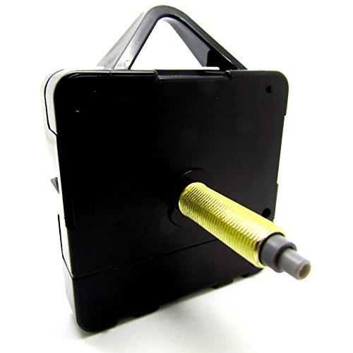 Sweep-Quartz-Uhrwerk, sehr leise, Selbstmontage, inkl. Beschläge, mechanischer Motor, verschiedene Größen erhältlich, plastik, Schwarz , Supersize - Gold Thread 24mm - Total Length 30mm