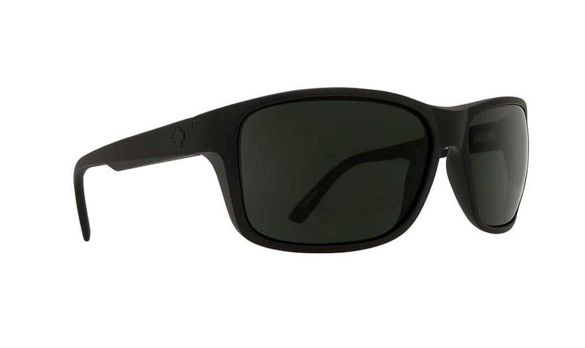 Spy Arcylon Sunglasses Matte Black with Happy Grey Green Polarized Lens + Hard Case