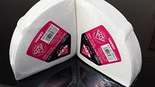 Hario VCF-02-100W-H | Confezione 2 Scatole | 200 Filtri Carta Bianca |