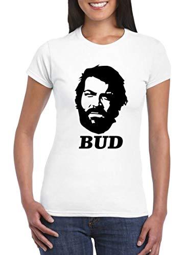 UZ Design Bud Spencer T Shirt Damen Kinder Weiß Schwarz Terence Hill 80er Jahre Filme Shirt, Kinder 7-8 Jahre