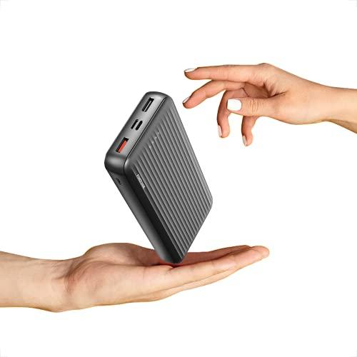 Undreeem Batería Externa 20000mAh Carga Rápida 3.0,Power Bank con 3 en 1 aporte Puerto Micro & USB C & Carga,18W Power Delivery Cargador Portatil,Powerbank para Phone,Samsun