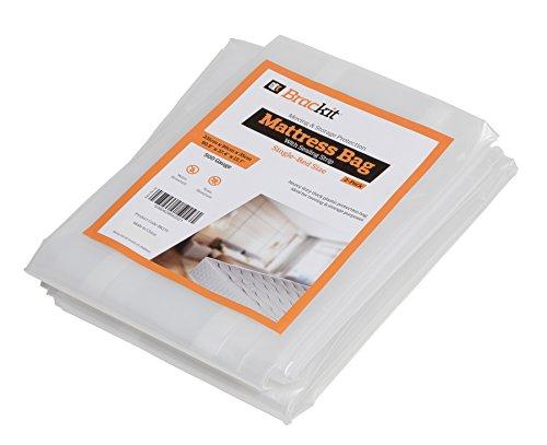 2er-Set Matratzen Schutzhülle Einzelbett extra stark Klebeverschluss Aufbewahrungshülle 231x95x35cm Matratzenfolie Umzug Lagerung Matratzenvollschutz