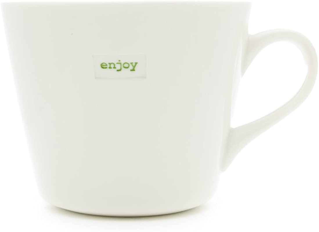 Keith Brymer Jones KBJ 0420 Enjoy Standard Word Range Bucket Mug 11 8 Fl Oz White
