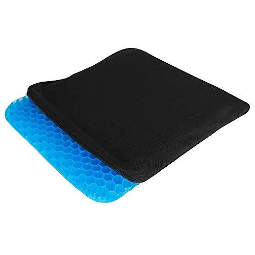 Hydas Gel-Struktur Sitzkissen, mit innovativer Gel-Wabenstruktur, hochwertiges Kissen für gesundes und angenehmes Sitzen im Büro, Auto oder Rollstuhl (41x36cm)