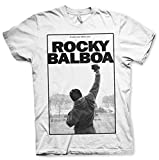 Rocky Oficialmente Licenciado Balboa - It Ain't Over Camiseta para Hombre (Blanco), Medium