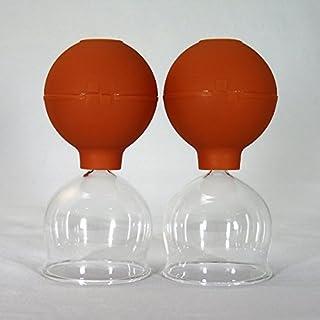 Ventosas Cristal de Goteo 2 Piezas en Set 65mm con Pera de Succión para Paño Grueso y Suave Feuerlosen