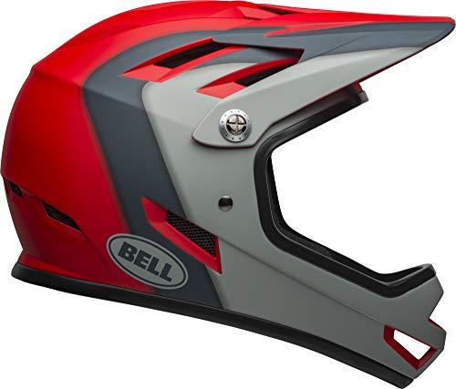 Bell Sanction Adult Full Face Bike Helmet - Presence Matte Crimson/Slate/Gray (2021), Small (52-54 cm)