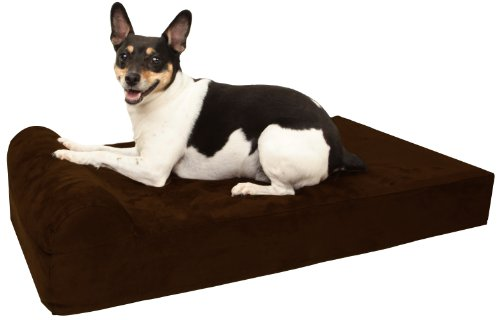 """Barker Junior - 4"""" Pillow Top Orthopedic Dog Bed with Headrest for Small Dogs 20-30 Pounds"""