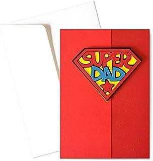 Super Dad - super poteri - festa del papà - biglietto d'auguri (formato 15 x 10,5 cm) - vuoto all'interno, ideale per il t...