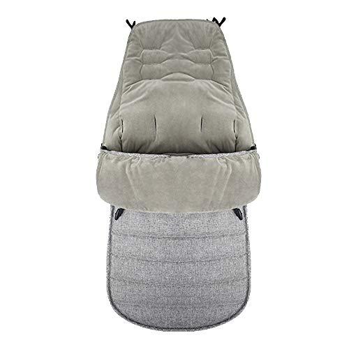 HyXia Saco de Dormir Universal para Silla de Paseo, Invierno al Aire Libre, para bebés, niños, Cochecito Infantil, Saco de Dormir, Saco cálido para pies, Nido para Dormir Anti-Patadas,Gris