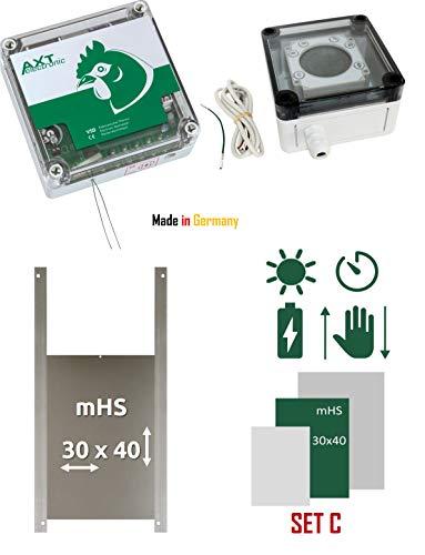 AXT-Electronic Set C - Pförtner VSD mit Batterien, Digitale Zeitschaltuhr, manuelle Steuerung, Außenmontage, Entent