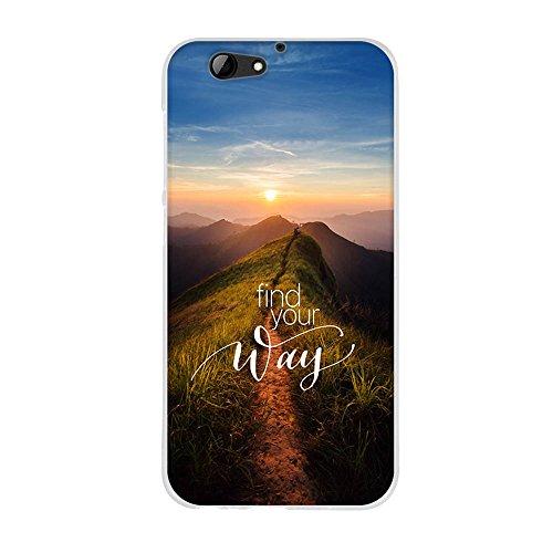 FUBAODA,Premium Hülle für HTC One A9s,Transparente & Feine TPU Silikon-Schutz,Schöne Landschaft [Sonnenaufgang] Kratzfest,Staubdicht,Hochwertiger Schutz mit Herausragendem Handyhülle für HTC One A9s