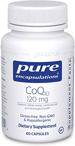 Pure Encapsulations - CoQ10 120 mg. - Hypoallergenic Coenzyme Q10 Supplement - 60 Capsules
