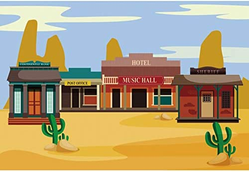 DORCEV 7x5ft Empty Desert Landscape Photography Backdrop Western Sand Outdoor Desert Adventure Travel Background Cowboy Theme Party Banner Adult Children Portrait Photo Studio Props Wallpaper