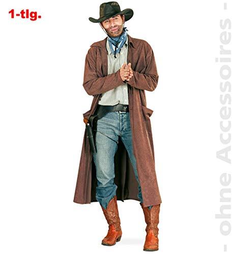 Unbekannt Cowboymantel Wild West Cowboy Herrenkostüm Western Mantel Herren Kostüm