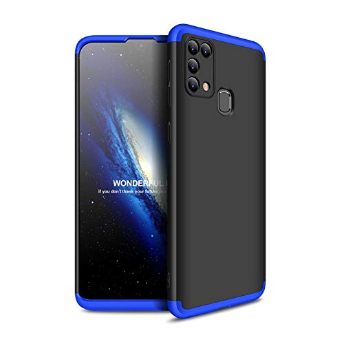 Mobikit Back Cover for Samsung Galaxy M31 3-in-1 360 Full Body Protection Double Dip Matte Hard Back Case Samsung Galaxy M31 (Blue & Black)