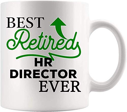 Taza del director de recursos humanos Mejor de todos los tiempos - Mejor de todos los tiempos Gerente de recursos humanos Empleado Taza de café Mundo Mejor regalo Mamá Papá Graduación Futuro