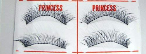 100% Authentic Taiwan Famous Princess Lee Handmade False Eyelashes 10 Pair #6 Cross Black