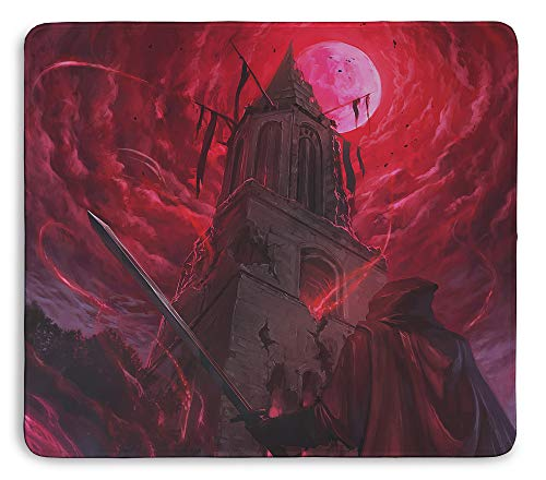 Hell Night Stitched Edging 18x16 Inch Mouse Pad by Inked Gaming / Non-Slip, Rubber, Professional Mouse mat with Smooth Surface. PC Gaming Your Game. Your Style.