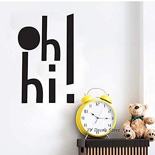 Hallo! Muurstickers Kinderen s Kamer Afneembare Baby Kwekerij Vinyl Decals Kamer Decoratie Aanbieding Kunst Stickers Behang 42x67cm