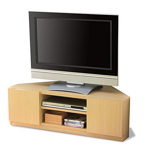 アイリスプラザ テレビ台 ローボード 収納 コーナー 幅110×奥行48×高さ36cm ビーチ キャスター付 97420