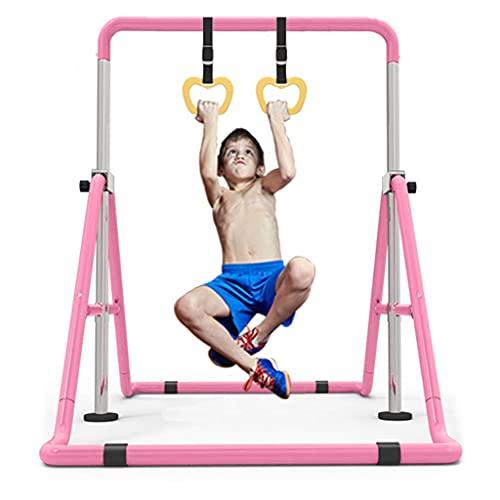 barra trazioni 85-130 Barra Orizzontale Barra Orizzontale Altalena per Bambini di Casa Attrezzature per Lo Sport E Il Fitness per La Famiglia Alzapalo Singolo per Bambini da Interno (Color : Pink