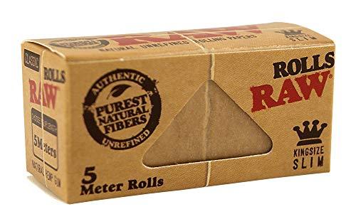 RAW Classic Rolls Slim 5m Länge ungebleicht 12x Rolls