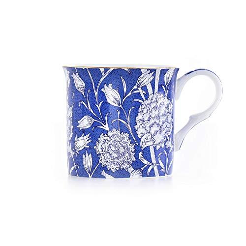 SXXYTCWL Clásica del tulipán Bone China Taza taza con asa, Golden Rim taza de té y la taza de leche de la taza de café, colorido y suave boca, conveniente for los regalos del Ministerio del Interior d