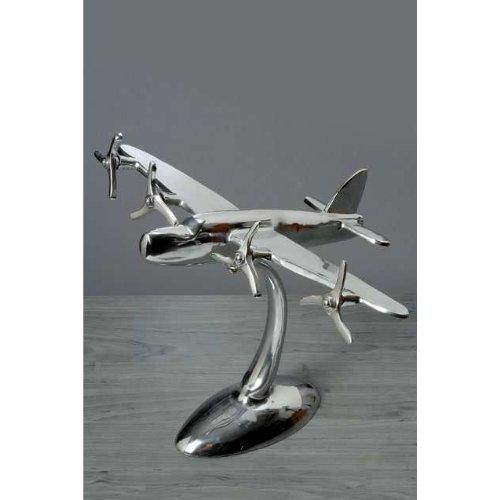 Immo Flugzeug AUS Aluminium FLUGZEUGMODELL Silber DEKO Modell