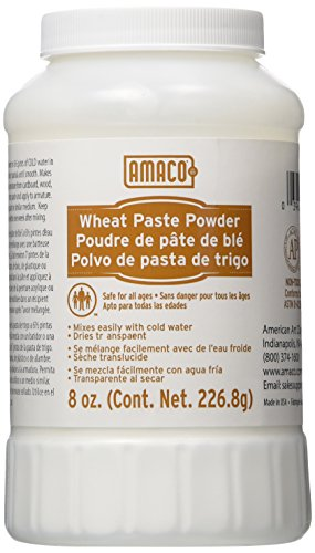 Amaco Non-Toxic Wheat Paste Powder, 8 oz - 151504