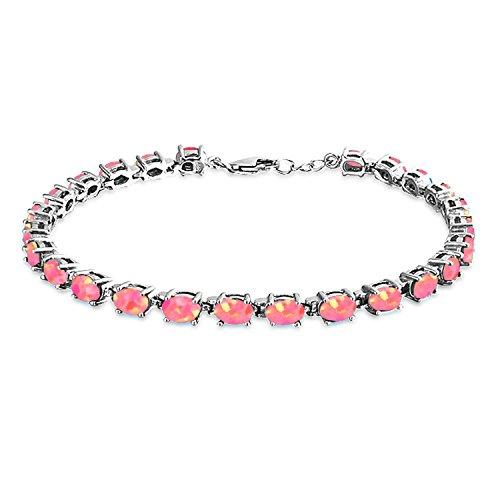 Bling Jewelry Pulsera De Tenis Sencillo para Mujer para Novi